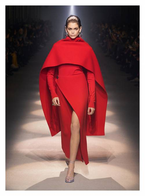Vivid red and total-black looks are the frontrunners of Givenchy's FW2020